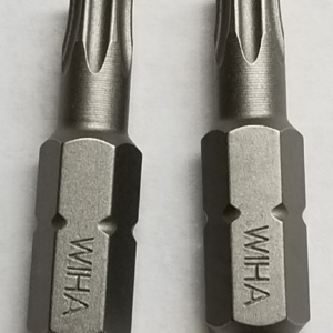 Two Pack of Wiha USA Made Hardened T25 Torx Bits